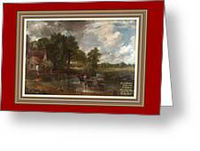 A Tribute To John Constable Catus 1 No.1 - The Hay Wain L A  With Alt. Decorative Ornate Printed Fr  Greeting Card