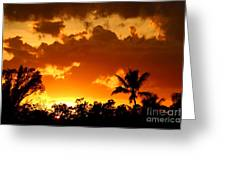 A Tropical Sunset Greeting Card