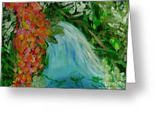 A Tropical Waterfall Greeting Card