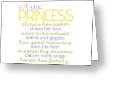 A True Princess Does Her Best Greeting Card
