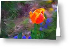 A Tulip Stands Alone Greeting Card