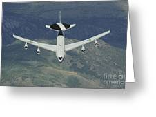 A U.s. Air Force E-3 Sentry Airborne Greeting Card