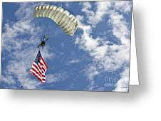 A U.s. Air Force Member Glides Greeting Card