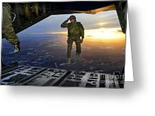 A U.s. Soldier Salutes His Fellow Greeting Card