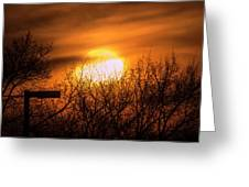 A Vague Sun Greeting Card