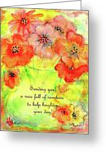 A Vaseful Of Sunshine Greeting Card