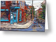 A Vendre Petits Formats L'art De Montreal Originals For Sale Wilensky's Diner Best Montreal Scenes Greeting Card