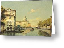 A Venetian Canal Greeting Card