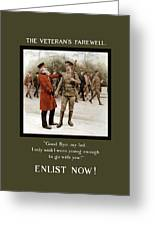 A Veteran's Farewell - Ww1 Greeting Card