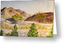 A View At Red Rock Greeting Card