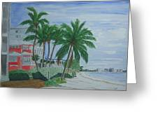 A View Down Ft. Myers Beach Greeting Card