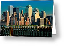 A View From Hoboken Greeting Card
