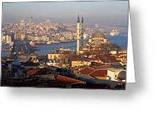 A View From Istanbul Greeting Card