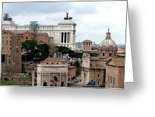 A View From Palatine Hill In Rome Italy Greeting Card