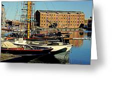 A View From The Docks Greeting Card