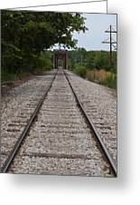 A View From The Tracks Greeting Card