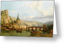 A View Of Dinant Greeting Card