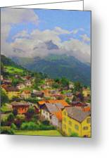 A View Of Engelberg Switzerland Greeting Card