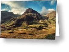 A View Of Glencoe. Greeting Card