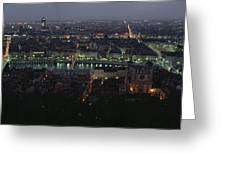 A View Of Lyon Between The Pont De La Greeting Card