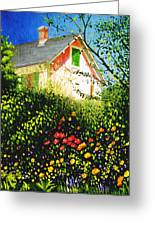 A View Of Monets House In Giverny France Greeting Card