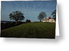 A View Of Mount Vernon, The Home Greeting Card