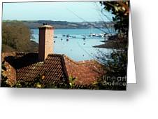 A View Of Mylor Harbour Greeting Card