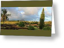 A View Of Prince Kuhio Park Greeting Card