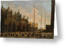 A View Of St. Mark's Basilica Greeting Card