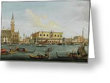 A View Of The Bacino Di San Marco Greeting Card