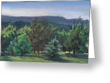 A View Of The Catskill Mountains Greeting Card