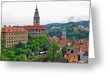 A View Of The Cesky Kromluv Castle Complex In The Czech Republic Greeting Card