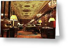 A View Of The Chatsworth House Library, England Greeting Card