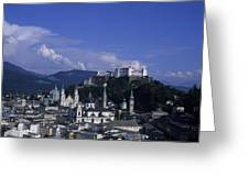 A View Of The City Of Salzburg From An Greeting Card by Taylor S. Kennedy