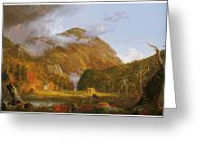 A View Of The Mountain Pass Called The Notch Of The White Mountains Greeting Card by Thomas Cole