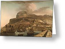 A View Of The Rock Of Gibraltar From The Spanish Lines 1782 Greeting Card