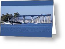 A View Of The South End Of The San Diego-coronado Bridge Greeting Card