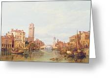 A View Of Verona Greeting Card by George Clarkson Stanfield