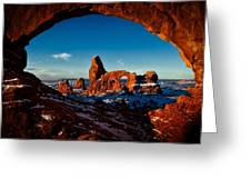 A View Through The Arch Greeting Card