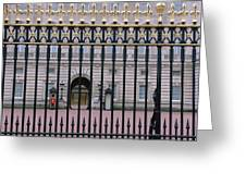 A View Through The Gates At Buckingham Greeting Card
