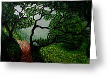A View Through The Trees Greeting Card