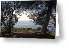 A View To The Sea Greeting Card