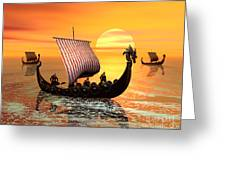 The Vikings Are Coming Greeting Card