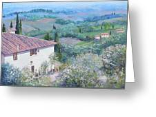 A Villa In Tuscany Greeting Card
