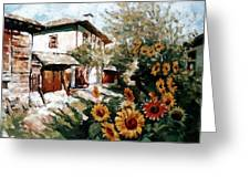 A Village In Summer Greeting Card