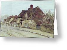 A Village Street Kent Greeting Card by Helen Allingham