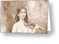 A Violin Girl Greeting Card