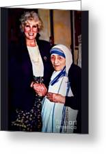A Vist With Mother Teresa Greeting Card