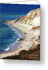 A Walk Along Aquinnah Beach Greeting Card