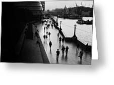 A Walk Along The Thames Greeting Card
